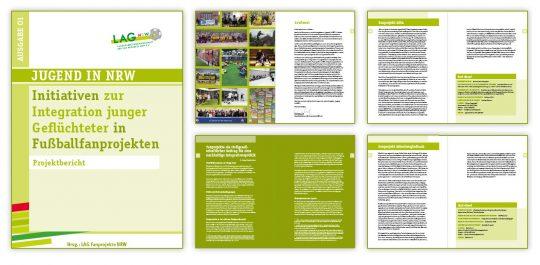 Collage einiger Seiten aus der Broschüre