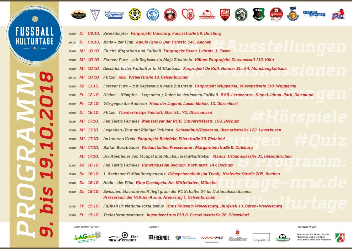 Fanprojekte präsentieren die 3. Fußballkulturtage NRW vom 9.-19 ...